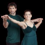 Adult dancers couple