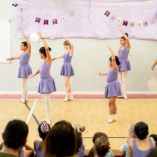 Grade 3 class performing