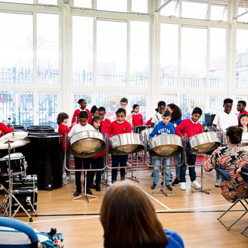 Manorfield Steel Pans performing