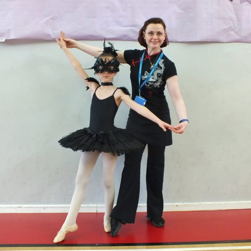 Lydie Schrepfer and MyBallet Academy's dressing up competition's winner