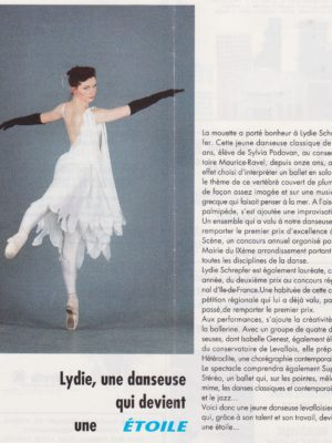 Ms Lydie in her local magazine